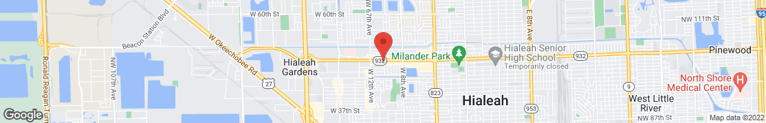 Map of 1000 W 49th St in Hialeah