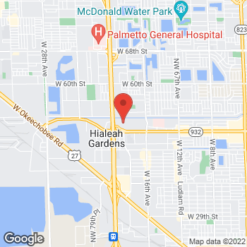 Map of BCBGeneration at 1777 West 49th Street, Hialeah, FL 33012