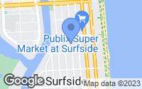Map of Surfside, FL