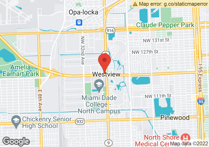 Google Map of 11920 NW 27TH AVE