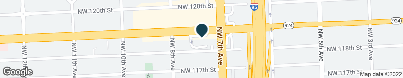 Google Map of750 NW 119TH ST