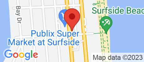 Branch Location Map - Wells Fargo Bank, Surfside Branch, 9401 Harding Avenue, Surfside FL