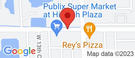 Branch Location Map - Wells Fargo Bank, Hialeah Branch, 1225 West 68th Street, Hialeah FL