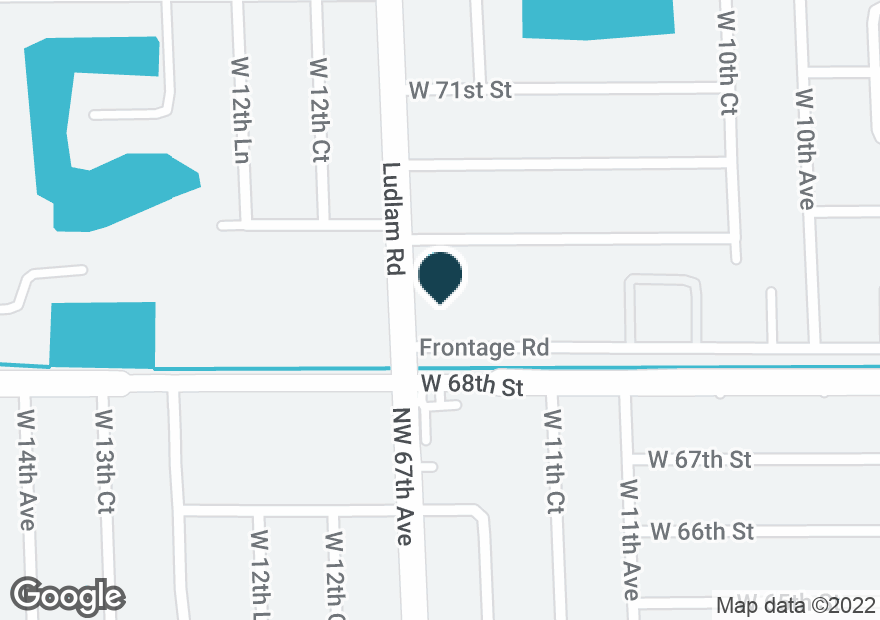 Google Map of1155 W 68TH ST