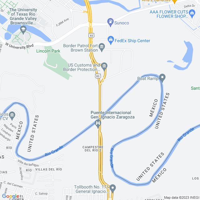 Map of Toll Road | Veterans International Bridge
