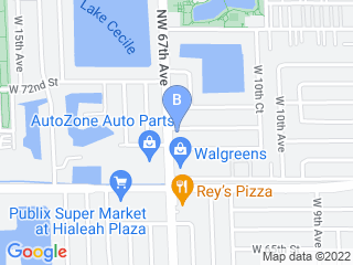 Map of Las Tres Ye Corp Dog Boarding options in Hialeah | Boarding