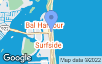 Map of Bal Harbour, FL