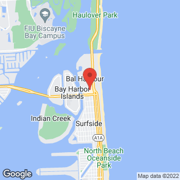 Map of Salvatore Ferragamo at 9700 Collins Avenue, Bal Harbour, FL 33154