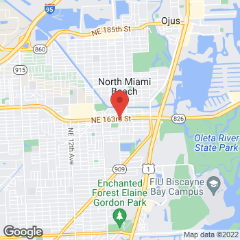 Map of Checkers at 1800 163rd Street, North Miami Beach, FL 33162