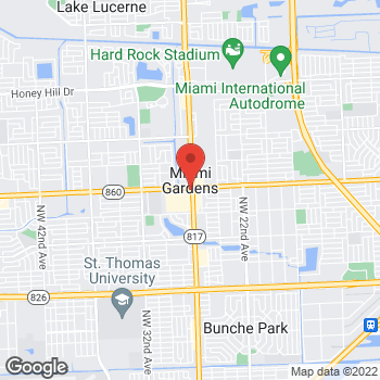 Map of Citi Trends at 18222 NW 27th Avenue, Miami Gardens, FL 33056