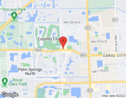 Map of 18600 NW 67th Ave in Miami Lakes