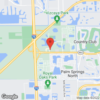 Map of Hair Cuttery at 8645 Nw 186th St, Hialeah, FL 33015