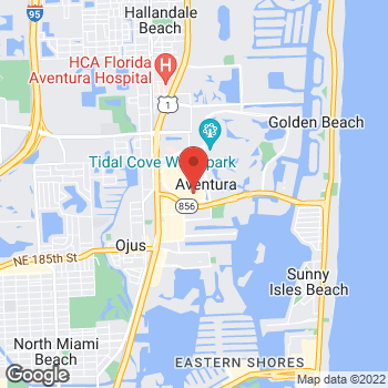 Map of BCBGMAXAZRIA at Bloomingdales at 19555 Biscayne Blvd, Aventura, FL 33180