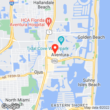 Map of Ann Taylor at 19501 Biscayne Blvd, Miami, FL 33180