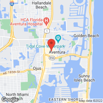 Map of BCBGMAXAZRIA at Macy's at 19535 Biscayne Blvd, Aventura, FL 33180
