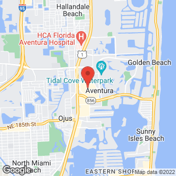 Map of BCBGMAXAZRIA at 19501 Biscayne Blvd, Aventura, FL 33180