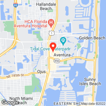 Map of Cole Haan- Closed at 19501 Biscayne Boulevard, Aventura, FL 33180