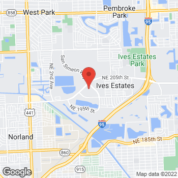 Map of Citi Trends at 850 Ives Dairy Rd, Miami, FL 33179