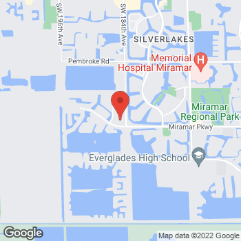 Map of Hair Cuttery at 18429 Miramar Pkwy, Miramar, FL 33029
