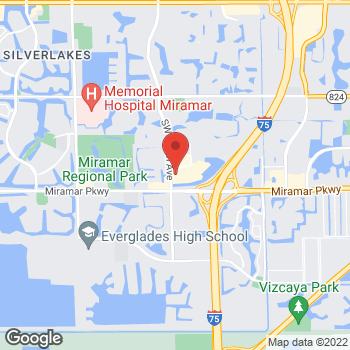 Map of Panera Bread at 2955 SW 160th Avenue, Miramar, Florida 33027