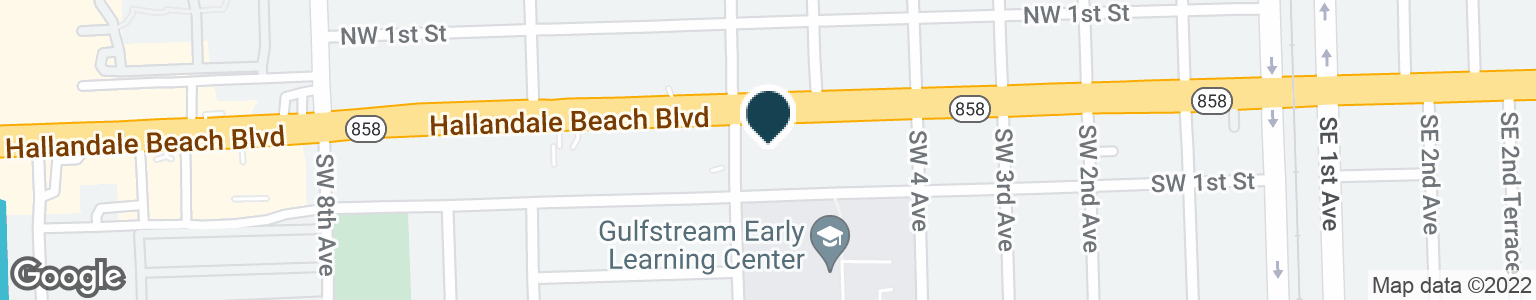 Google Map of509 W HALLANDALE BEACH BLVD