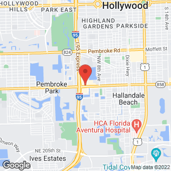 Map of Taco Bell at 1040 W Hallandale Beach Blvd, Hallandale, FL 33009