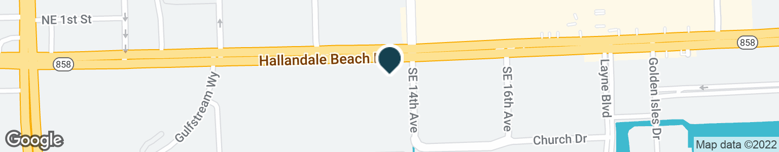 Google Map of1300 E HALLANDALE BEACH BLVD