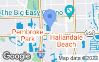 Map of Hallandale Beach, FL