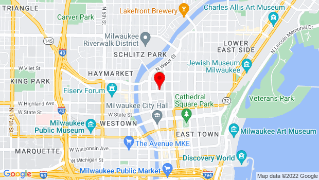 Google Map of 250 East Juneau Avenue, Milwaukee, WI 53202