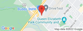 Google Map of 2500+South+Service+Road%2COakville%2COntario+L6L+5M8