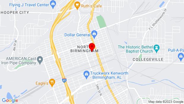 Google Map of 2501 31st Ave. N, Birmingham, AL 35207-4423