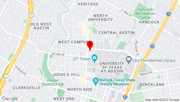 Google Map of 2504 Whitis Ave B Austin, TX 78712, TX