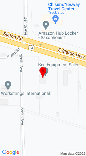 Google Map of Bee Equipment Sales, Ltd. 2506 E Slaton Highway, Lubbock, TX, 79404