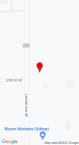 Google Map of Sidney Rental 2508 S. Lincoln Ave., Sidney, MT, 59270