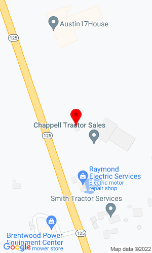 Google Map of Chappell Tractor 251 Route 125, Brentwood, NH, 03833