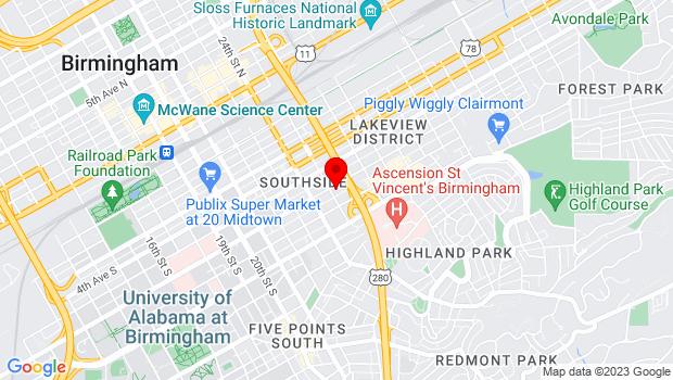 Google Map of 2515 6th Avenue South, Birmingham, AL 35233