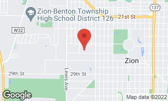 Map of 2515 Horeb Avenue ZION, IL 60099