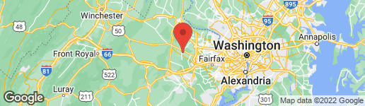 Map of 25180 RIDING CENTER DRIVE CHANTILLY, VA 20152