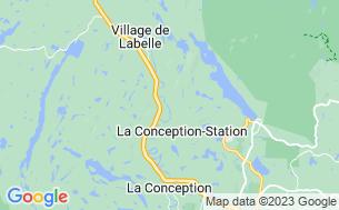 Map of Camping Labelle Et La Rouge