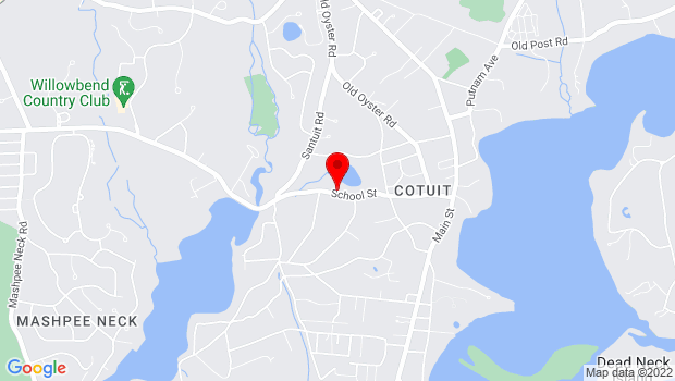 Google Map of 252 School Street, Cotuit, MA 02635