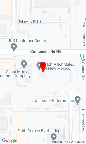 Google Map of Ditch Witch of New Mexico, Inc. 2520 Comanche Road NE, Albuquerque, NM, 87107