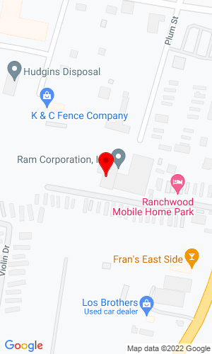 Google Map of Ram Corporation Inc 2520 Plum Street, Nashville, TN, 37207