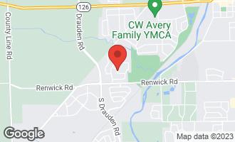 Map of 25224 Parkside Drive PLAINFIELD, IL 60544