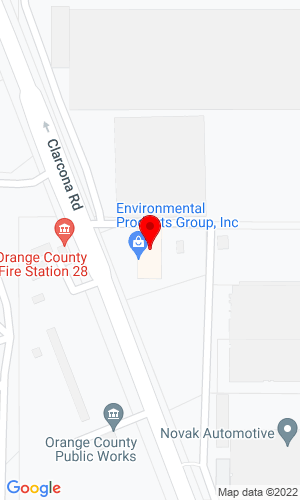 Google Map of Environmental Products of Florida/Georgia 2525 Clarcona Road  , Apopka, FL, 32703