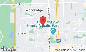 Map of 2525 Spring Street #2803 WOODRIDGE, IL 60517