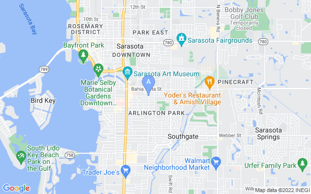 2528 Floyd St Sarasota Florida 34239 locatior map