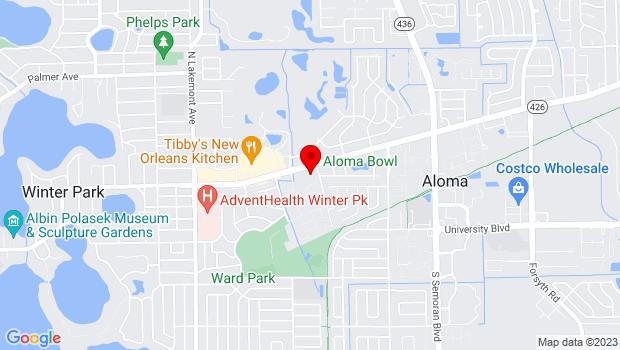 Google Map of 2530 Aloma Avenue, Winter Park, FL 32792, Winter Park, FL