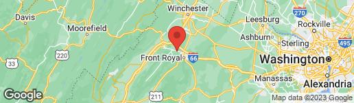 Map of 2546 STRASBURG ROAD FRONT ROYAL, VA 22630