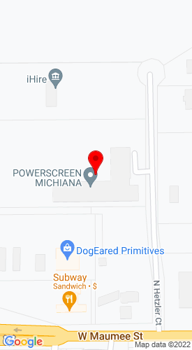 Google Map of Powerscreen Indiana, Inc. 255 N Hetzler Court    Ste C, Angola, IN, 46703