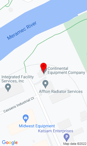 Google Map of Continental Equipment Company 2550 Cassens Drive, Fenton, MO, 63026